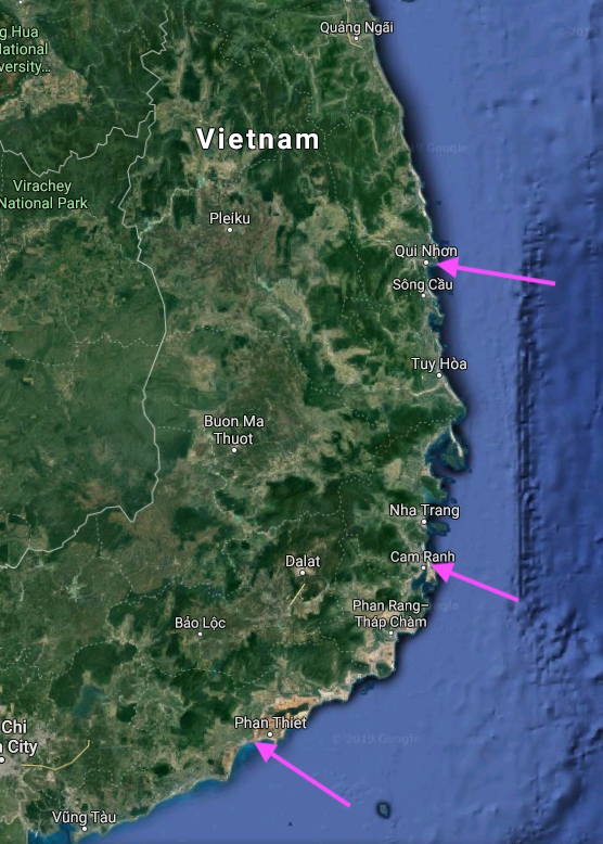 August 26, 1969 our unit moved from the Qui Nhon area to LZ Betty near Phan Thiet by sea on two Landing Ship Tank (LST) vessels. Cam Ranh is noted on the map because I was detailed to fly to and from Phan Thiet and Cam Ranh on Chinook helicopters to get our medical supplies.